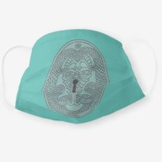 Cloth Mask DRAGON KEYPLATE black on grey-blue Time Travel, One Size Fits All, Snug Fit, Sensitive Skin, Blue Grey, First Love, Masks, Baseball Hats, Dragon
