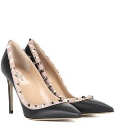 Valentino Rockstud leather pumps Black                          $139.00