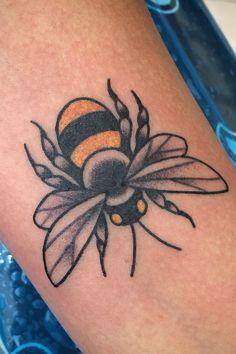 Tattoo uploaded by Elyria Black   Bumble Bee inner forearm   1069664   Tattoodo