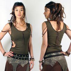 "TOP LILOO ""AMAZON"" •• Pixie Fairy Tribal Boho Bohemian Look ❃ (33€)"