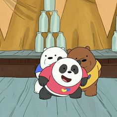 BB Tin: A Girl And Her Bear : I don't know what my favorite part of this scene was. Bear Wallpaper, Cartoon Wallpaper, Disney Wallpaper, Ice Bear We Bare Bears, We Bear, We Bare Bears Wallpapers, Cute Wallpapers, Pardo Panda Y Polar, Harry Potter Painting