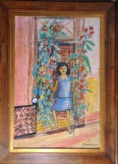 "CICERO DIAS,T.M. ""Menina na porta"",medidas 53 x 37 cm.A.C.I.D"
