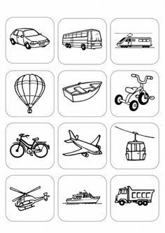 Preschool transportation theme printables had a set of small plastic vehicl Preschool Learning Activities, Preschool Worksheets, Educational Activities, Classroom Activities, Transportation Worksheet, Transportation Theme Preschool, Drawing For Kids, Kids Education, Bingo