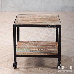 【OPUS LOFT】復古工業風 法式鐵皮 環保木 邊桌利用環保木來製作傢俱,暨環保又兼具復古工業的風格