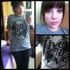 thoughtslikestars:  Watching Friends in my new Live to Love Apparel earth logo shirt. :)