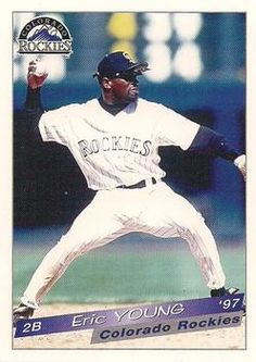 Eric Young Eric Young, Colorado Rockies, Baseball Cards, Sports, Hs Sports, Sport