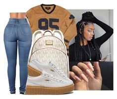 """"""""""" by eazybreezy305 on Polyvore featuring Michael Kors, Puma, cute, simpleoutfit and 2016"""