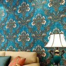 3d Nicht  Gewebtes Tapete Damast European Vintage Tapete Wand Abdeckpapier  Für Hintergrund Strukturierte Tapeten Wohnkultur
