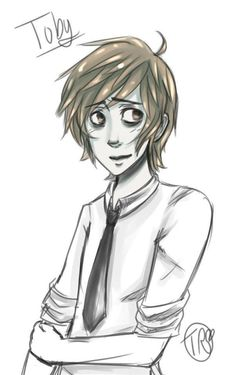●●● Creepypasta, Ticci toby.  Never considered him in a tie, but of course I'm bloody pinning it.  Er sieht auch gut aus .