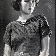 Gatsby Belted Waist Dress Pattern PDF by HouseonCherryHill on Etsy, $4.50