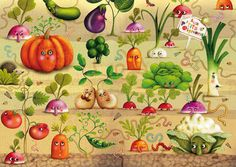 Marie Desbons, vegetable garden. ❣Julianne McPeters❣ no pin limits