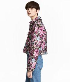 Jacquard-weave Jacket | Black floral | Women | H&M US