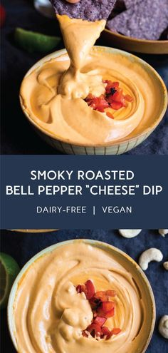 Roasted Red Bell Pepper Cashew Cheese Dip   dairy free vegan   #puremamas