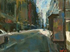 "'NYNY #18' by Darren Thompson | $250 | 16""w x 12""h | Original Art | http://www.arttwo50.com/buy/art/nyny-18"