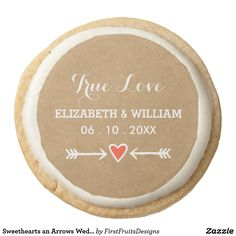 Sweethearts an Arrows Wedding - True Love Cookies This one's charming but simple. This dessert has just the right combination of elegant and casual, with a touch of sweet ol' farmyard charm. The perfect theme for a variety of different styles of wedding: shabby chic, outdoors, heart-and-arrow style romance, or just for that sweet, rustic feel. It's original, and uniquely your own. What could be better? Get this cookie as a treat, celebrating that special wedding of yours.