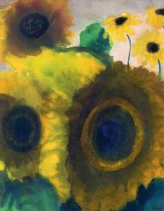 Sunflowers   Emil Nolde