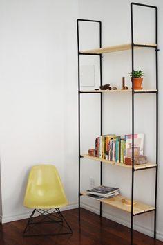 DIY pipe bookshelf by Alma S.