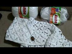 Blusa elegante em Crochê by Jane Longo - YouTube Crochet Diagram, White Shorts, Knitting, Youtube, Cardigans, Videos, Fashion, Crochet Coat, Crochet Leaves