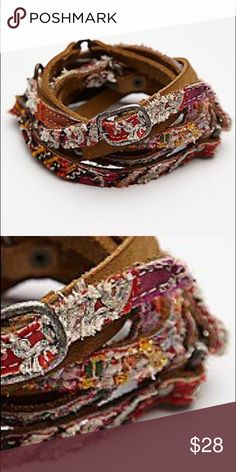 Free People Tapestry Triple Wrap belt FP Tapestry Belt. EUC only worn a couple of times. Free People Accessories Belts
