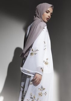 Modest Fashion for Modern Women by Inayah Modern Hijab Fashion, Islamic Fashion, Abaya Fashion, Muslim Fashion, Modest Fashion, Fashion Outfits, Saree With Hijab, Hijab Dress, Modest Dresses