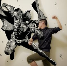 Comic Book Illustrations Into the Real World by a Chinese Student