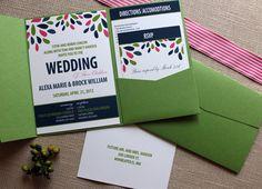 Navy, Spring green, and pink. I think I finally found my complete wedding colors pallet!