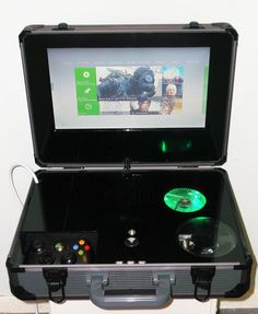 custom xbox 360 portable 3 by EvilDan. This is pretty live, even though I don't play Xbox Xbox 360 Games, Arcade Games, Video Games Xbox, Playstation, Videogames, Custom Consoles, Video Game Rooms, Xbox Controller, Video Game Console