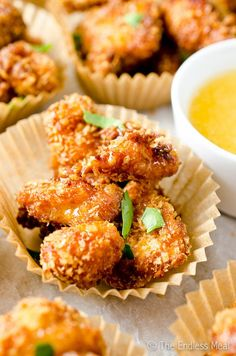 Chipotle Popcorn Chicken with Honey Mayo
