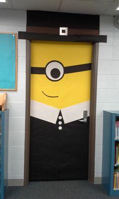 Thanksgiving Pilgrim Minion door decoration