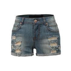LE3NO Womens Classic Distressed Denim Shorts (30 CAD) ❤ liked on Polyvore featuring shorts, bottoms, pants, pants and shorts, pocket shorts, party shorts, punk shorts and distressed denim shorts