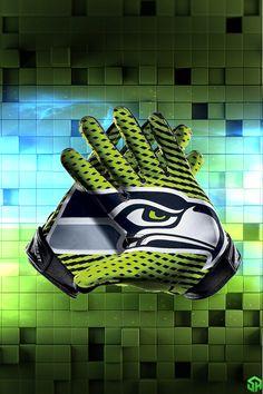 Seattle Seahawks Vapor Gloves Lockscreen by Stealthy4u
