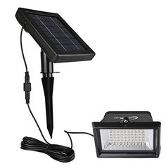 Outdoor Décor-Solar Flood Lights Findyouled 60LED120Lumen White Outdoor Waterproof Landscape Lighting Security Solar Lights 2in1 Adjustable Cast Aluminum Light with 164ft Cable  Auto OnOff ** Read more  at the image link.