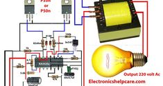 how to make inverter for amplifier - Electronics Help Care Electronics Engineering Projects, Electronics Basics, Electrical Projects, Electronics Components, Electronic Engineering, Electrical Engineering, Transformers, Diy Guitar Amp, Electronic Circuit Design
