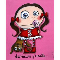 """Tableau d'Isabelle Kessedjian """"Demain j'arrête"""" - Le Coin des Créateurs"""