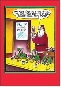 B5878 Box Set of 12 Multitit Barbie Inappropriate Christmas Cards with Envelopes  Adult Humor *** Check out the image by visiting the link. (This is an affiliate link)