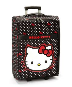 Look at this #zulilyfind! Hello Kitty All-Over Rolling Carry-On #zulilyfinds