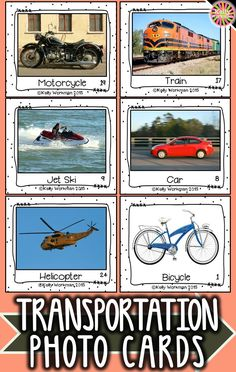 Looking for materials to help students learn basic nouns? Develop their vocabulary skills by using photo flashcards which are perfect for speech therapy, special education, autism, ELL, and Preschool. Click to view this transportation vocabulary set and to download a free guide for flashcard games and activities!