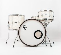 C&C Drums Europe - Vintage Drums - Player Date 2 - Aged Marine Pearl - Kit (front) www.candcdrumseurope.com