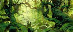 Sketch by Paul Lasaine Environment Concept, Environment Design, Fantasy Landscape, Fantasy Art, Ring Sketch, Art Environnemental, Fantasy Setting, Animation Background, Visual Development