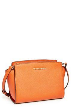 MICHAEL Michael Kors 'Medium Selma' Saffiano Leather Crossbody Bag | Nordstrom