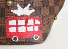 detalhe bolsa customizada lv juliana ali - Juliana e a Moda | Dicas de moda e beleza por Juliana Ali