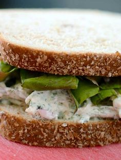 Creamy Dill Chicken Salad Sandwich