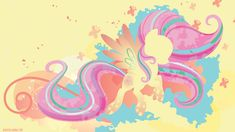 Rainbow Power Fluttershy Silhouette Wall by SpaceKitty on DeviantArt