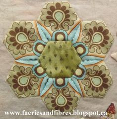 Faeries and Fibres: Fussy cut options for hexagon quilts when you don't have enough fabric