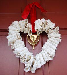 {DIY Project} 14 Valentine Wreath Tutorials