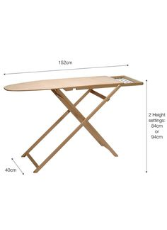A Perfectly Proportioned Solid Wooden Ironing Board