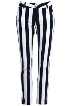 Black And White Strip Pants #ROMWE
