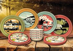 Retro Camping Dish Set for RVers