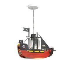 Lampadario a sospensione per la cameretta di bambini con nave dei pirati