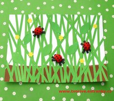 Spring Crafts: How to make a ladybug with their hands - Art & Craft Ideas Bug Crafts, Preschool Crafts, Easter Crafts, Diy And Crafts, Crafts For Kids, Arts And Crafts, Spring Art, Spring Crafts, Diy Ostern